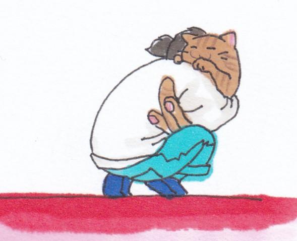 ミーコ抱っこ